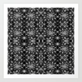 blurred lines triangle collage II Art Print