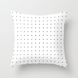 Black and white dot grid pattern Throw Pillow