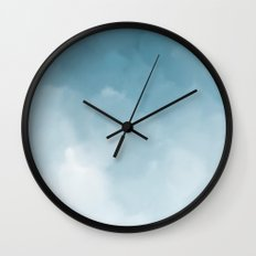 Blue clouds are everywhere Wall Clock