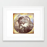 fight Framed Art Prints featuring Fight. by Nato Gomes