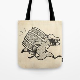 THE  WHISKEY SMUGGLER - vintage cartoon 80's Tote Bag