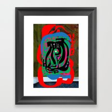 Hearts and Minds Are Not Straight Lines Never Let The Mind Go Asinine  Framed Art Print