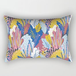 Leafy Meadow in Color Rectangular Pillow