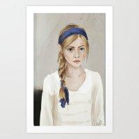 young girl portrait  Art Print