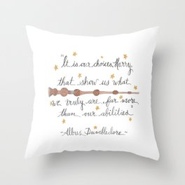 Choices Quote Throw Pillow