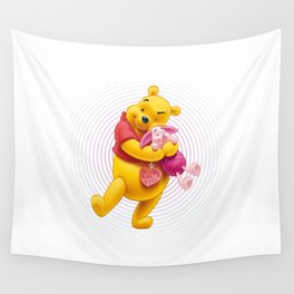 pooh piglet Wall Tapestry