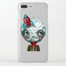 Moon Boy Clear iPhone Case