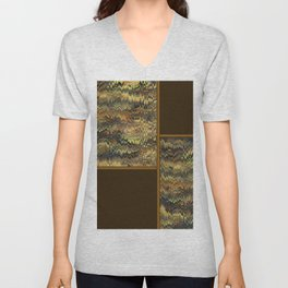 Ornamental Fabric Unisex V-Neck