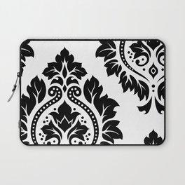Decorative Damask Art I Black on White Laptop Sleeve
