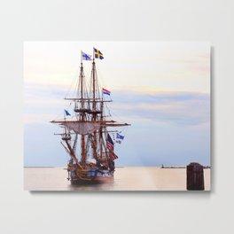 Kalmar Nykel Tall Sails Ship Photograph Print Metal Print