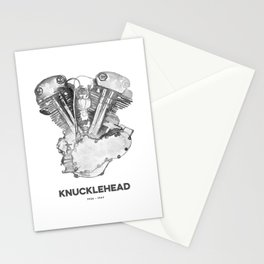 Vintage Harley Knucklehead Motorcycle Engine Stationery Cards