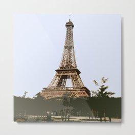 Eifel Tower Abstract Metal Print