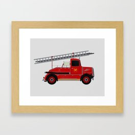 Vintage Fire Engine Framed Art Print