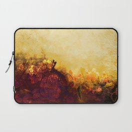 LOVELY FLOWERS ARE KISSING A YELLOW FIELD Laptop Sleeve