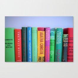 Row of Colorful Vintage Agatha's Canvas Print