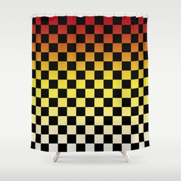 Chessboard Gradient IV Shower Curtain