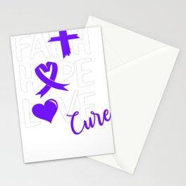 Religious Pancreatic Cancer Support Faith Hope Love Cure Pancreas Cancer Stationery Cards