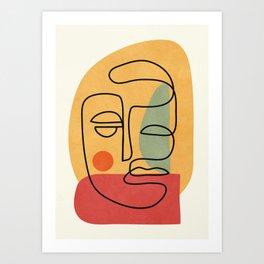 Abstract Face 20 Art Print