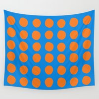 polka Wall Tapestries featuring Polka  by Ruth Shaffer Art and Designs