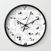 matrix Wall Clocks featuring matrix by sharon