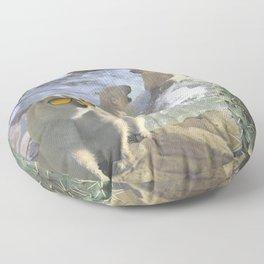 Polar Bear Hot Tub Floor Pillow