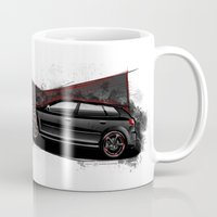 audi Mugs featuring RS3 by an.artwrok
