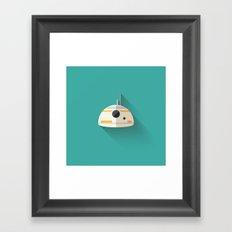 BB8 Flat Design Framed Art Print