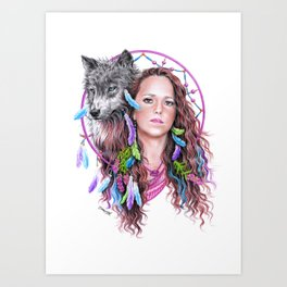 Heather Art Print