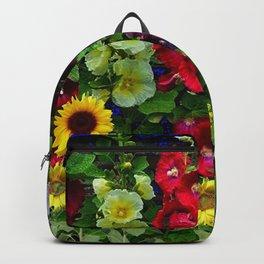 ENGLISH HOLLYHOCKS & SUNFLOWER GARDEN Backpack