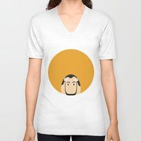 dali V-neck T-shirts featuring DALI by Analy Diego