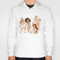 kendrawcandraw Hoodies featuring Princesses by kendrawcandraw