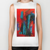 tame impala Biker Tanks featuring Tame Before the Storm by Katie Anderson Art
