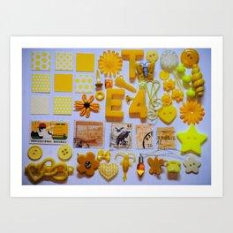 Yellow Trinkets Art Print