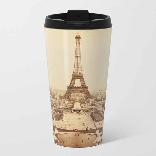Eiffel Tower and Champ de Mars 1889 Paris Metal Travel Mug