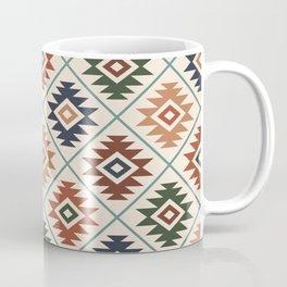 Aztec Symbol Pattern Col Mix Coffee Mug