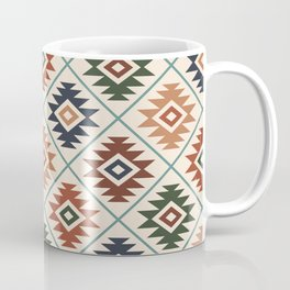 Aztec Symbol Pattern Col Mix Coffee Mug