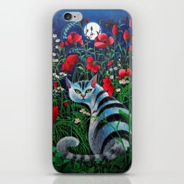 Cat in the Night iPhone Skin