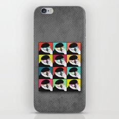 Chinstrap Penguins Pop Art vertical digital paper collage iPhone & iPod Skin