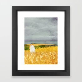 There's a ghost in the what field again... Framed Art Print