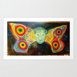 Galactic Lion Art Print