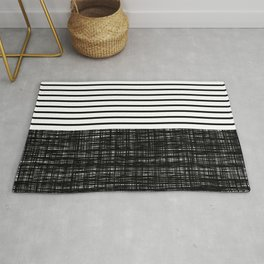 platno (black stripes) Rug