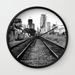 Road to progress Wall Clock