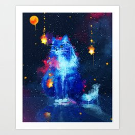 Cosmic Cat Art Print