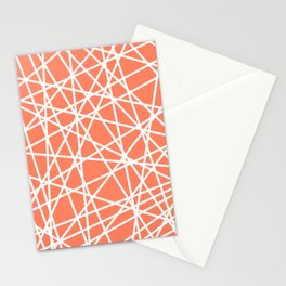 Lazer Dance Coral Stationery Cards