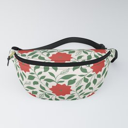 Vintage Floral in Red and Green Fanny Pack