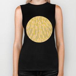 Organic Abstract Yellow Lime Biker Tank