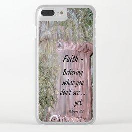 Faith Scroll Clear iPhone Case