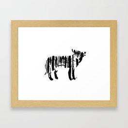 Wolf Silhouette Framed Art Print