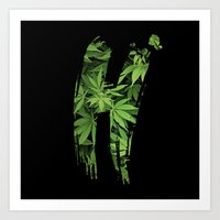 marijuana Art Prints featuring Marijuana H by Spyck