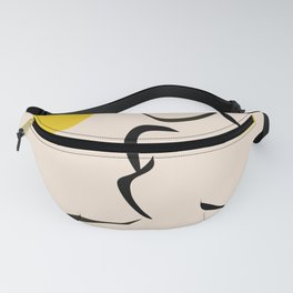 abstract minimal nude Fanny Pack